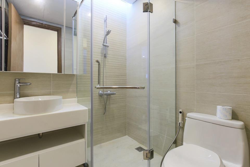 Nhà vệ sinh sạch sẽ, luôn tạo cảm giác thoải mái cho khách thuê