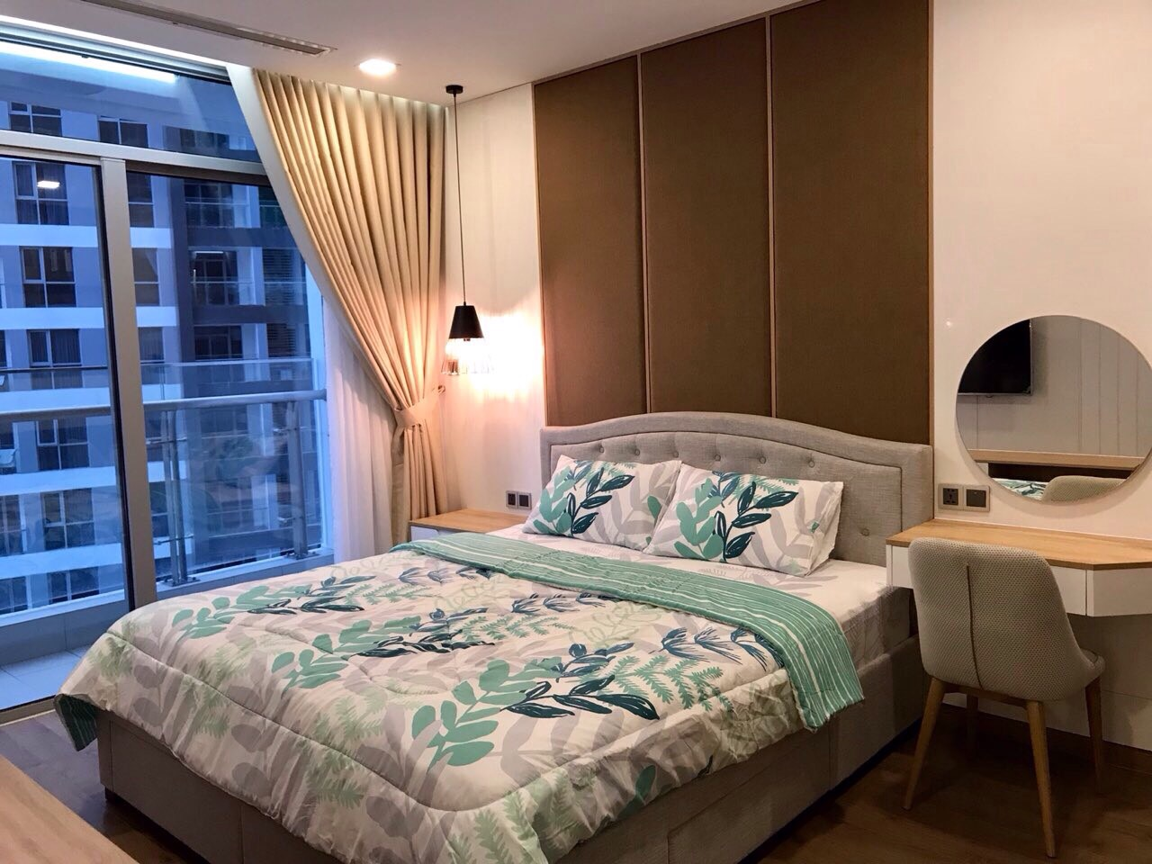 Phòng ngủ tại Vinhomes luôn thông thoáng, view đẹp