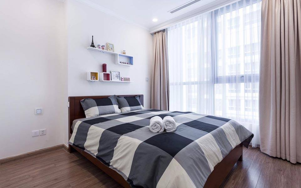Phòng ngủ căn hộ Vinhomes thuê ngày
