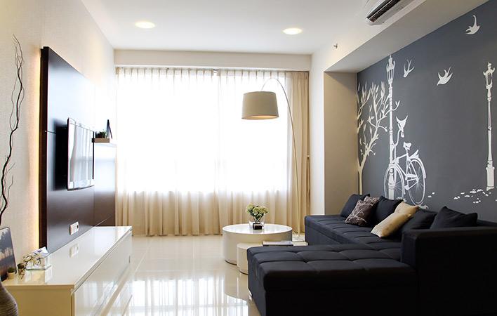Căn hộ 1 phòng ngủ Sunrise City cho thuê có giá khoảng $700/tháng