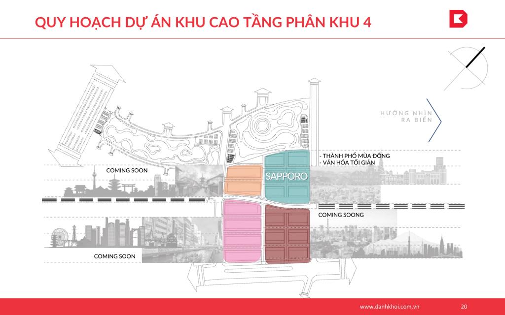 Quy hoạch dự án khu cao tầng phân khu 4